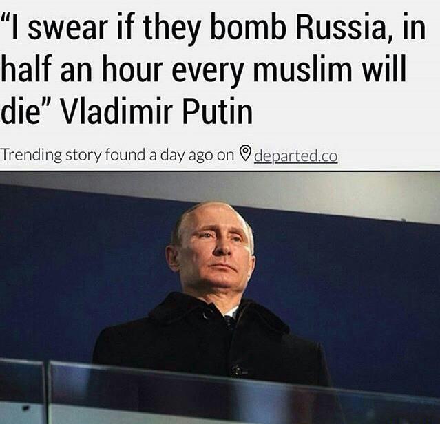 Vladimir Putin Allegedly Threatens Muslims Religious Forums